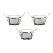 LAP Fixed Downlight Integrated LED Chrome 1.92W 240V Pack of 3