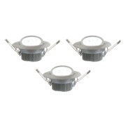 LAP Adjustable Integrated Downlight LED Brushed Chrome 4.5W 240V Pack of 3