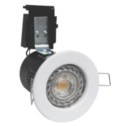 Robus Fire Rated Fixed Fire Rated Downlight IP20 White 3.5W