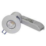 Robus Fire Rated Fixed Fire Rated LED Downlight IP44 White 9W
