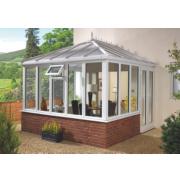 E4 uPVC Edwardian Double-Glazed Conservatory 3.13 x 2.46 x 3.12m