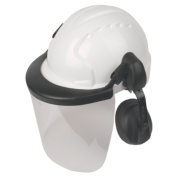 JSP EVO3 Comfort Machinery Helmet with Ear Defenders & Visor