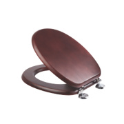 Croydex Sit-Tight Douglas Toilet Seat Pine Mahogany-Effect