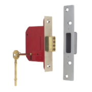 ERA 5 Lever Mortice Deadlock Satin Nickel 3