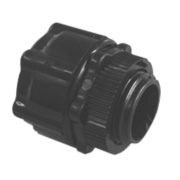 Tower Corrugated Conduit Adaptors Black 20mm Pack of 5