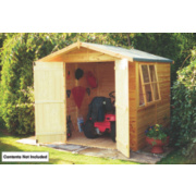 Shire Shiplap Double Door Apex Shed 7' x 7' x 7' (Nominal)