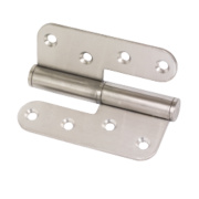 Lift-Off Hinge Left Hand Satin Stainless Steel 102 x 89mm Pack of 2