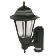 ASD 100W Black Coach Lantern Wall Light PIR included
