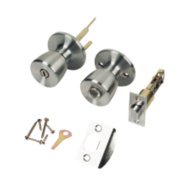 ERA Lever on Backplate Lock Satin Silver Pair 67mm