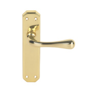 Carlisle Brass Eden Latch Door Handle Pack Polished Brass