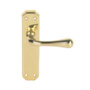 Carlisle Brass Eden Latch Door Handle Pack Polished Brass