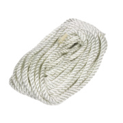 Twisted Nylon Rope White 9.5mm x 15.2m