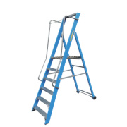 Lyte Widestep Platform Step Ladder Fibreglass 6 Treads 2.26m