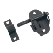 Oval Pad Bolt Black Powder Coated 120mm