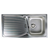 Astracast Alto Kitchen Sink S/Steel 1 Bowl & Reversible Drainer 980 x 510mm