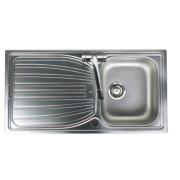Astracast Alto Kitchen Sink S/Steel 1 Bowl & Reversible Drainer 980 x 510mm