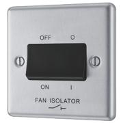 LAP 10AX 3-Pole Fan Isolator Switch Stainless Steel