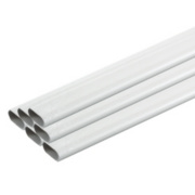 Tower Oval Conduit 20mm x 2m White Pack of 40
