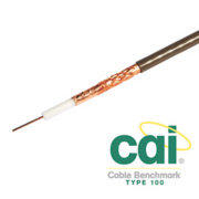 Labgear PF100 Satellite Coaxial Cable 100m Brown