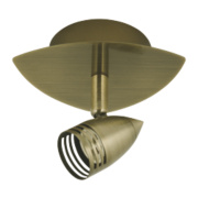 CL-GUT1T Single Spotlight Antique Brass