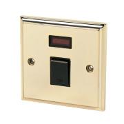 20A DP Switch + Neon Victorian Brass