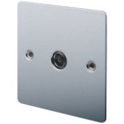 LAP 1-Gang TV Coaxial Socket Polished Chrome