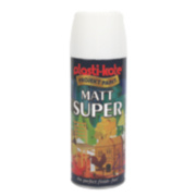 Plasti-Kote Super Multipurpose Spray Paint Matt White 400ml