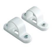 Tower Spacer Bar Saddles 25mm White Pack of 2