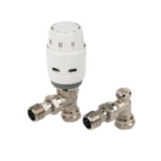 Danfoss RAS-C² White & Chrome TRV & Lockshield 8/10mm Angled