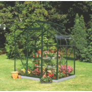 Halls Supreme 46 Aluminium Greenhouse Green Toughened Glass 1930 x x