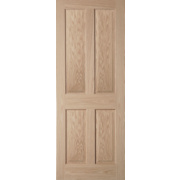 Jeld-Wen Oregon Solid 4 Panel Interior Door Oak Veneer 1981 x 762mm