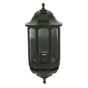 ASD 60W Black Half Lantern Wall Light Photocell Included