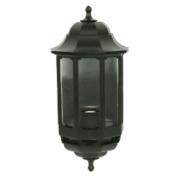 ASD 60W Black Half Lantern Wall Light Photocell Included