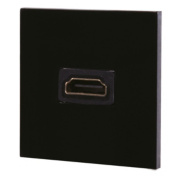 British General 1-Gang HDMI Grid Module Black