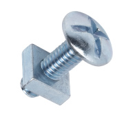 Roofing Bolts BZP M6 x 20mm Pack of 10