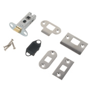 Eurospec Tubular Mortice Latch Nickel-Plated 63mm