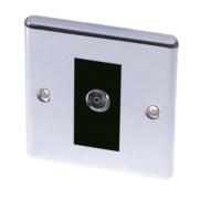 LAP 1-Gang TV Coaxial Socket Polished Chrome