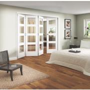 Jeld-Wen 4-Light Internal Room Divider 4-Door White 2552 x 2044mm