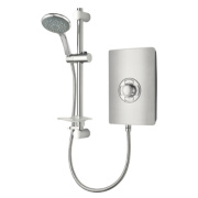 Triton Manual Electric Shower Brushed Steel Effect 9.5kW