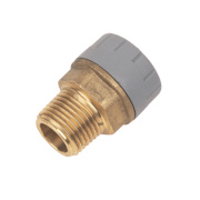PolyPlumb Male Coupler 15mm x ½