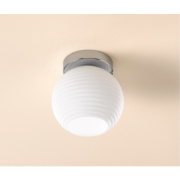 Globe 55304 Globe Ceiling Light White & Chrome 60W