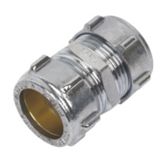 Conex Chrome Compression Straight Coupling 22mm
