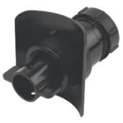 McAlpine Mechanical Pipe Boss Connector Black 40mm