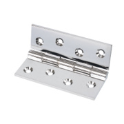 Double Phosphor Bronze Washered Hinge Polished Chrome 102 x 76mm Pack of 2