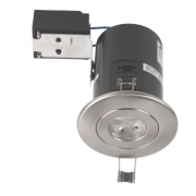 JCC Lighting Designs Fixed Fire Rated LED Downlight Brushed Chrome 5W 240V