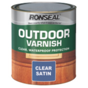 Ronseal Outdoor Varnish Satin Clear 750ml