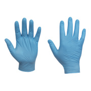 Clean Grip Nitrile Powder Disposable Gloves Blue X Large Pk100