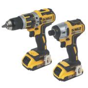 DeWalt DCK250D2 18V 2Ah Li-Ion Combi Drill & Impact Driver XR Brushless