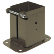Bolt-Down Post Supports 100 x 100mm Pack of 2