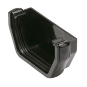 Square Line Black External Stop End